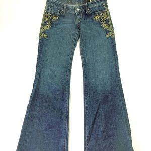 Quality Denim X2 Embroidered Bootcut  Jeans R062